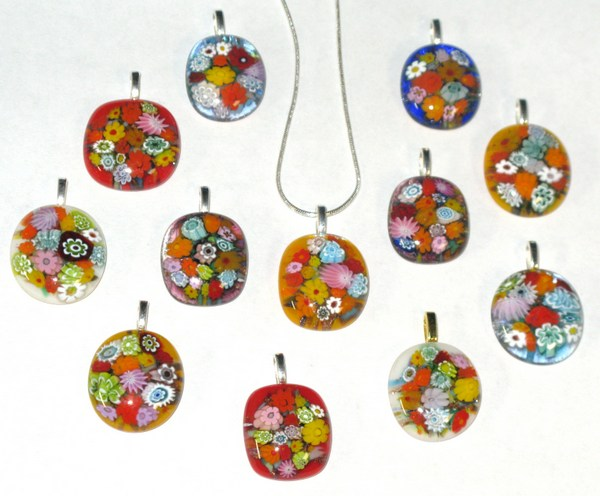 Photo of flower pendants collection